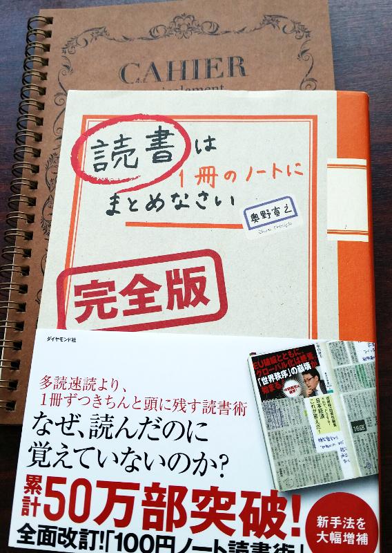 読書は1冊のノートにまとめなさい100円ノートで確実に頭に落とすインストール・リーディング